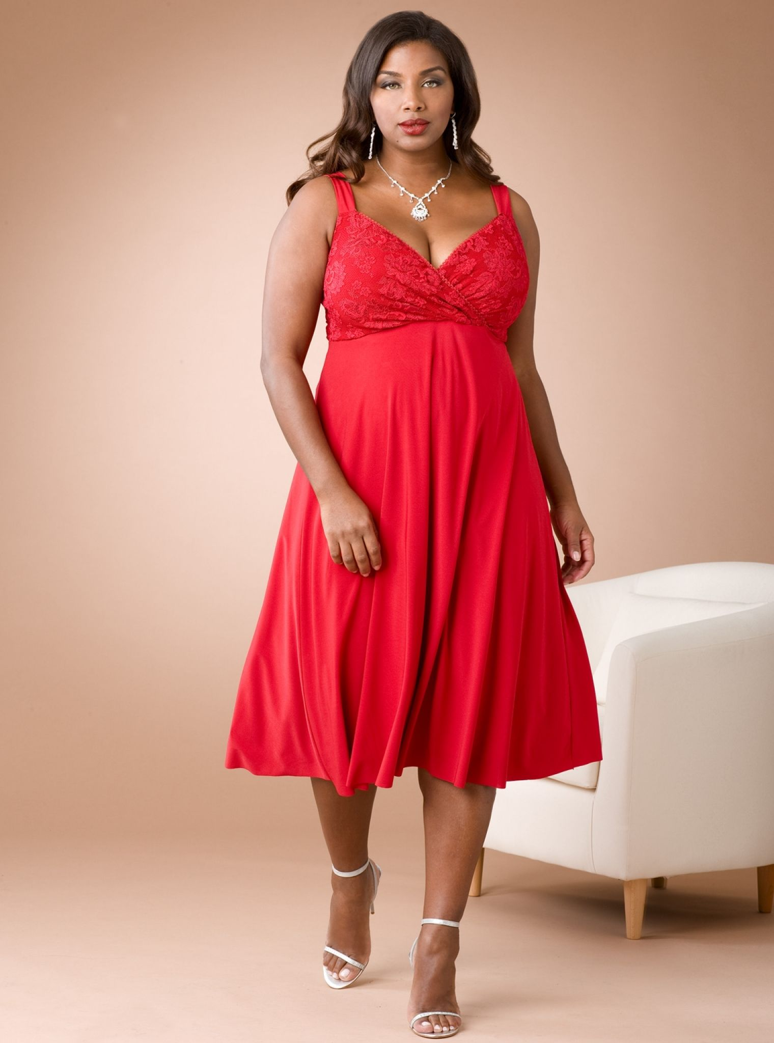 plus size coral dress for wedding - wedding dresses for guests