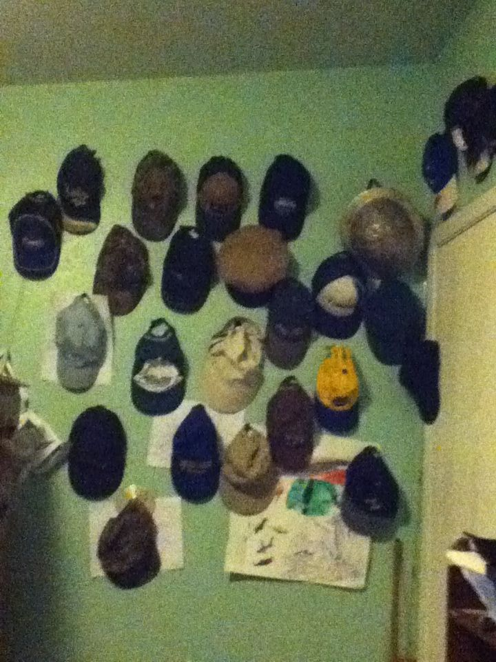 This is what every inch of wall in my brothers room looks like