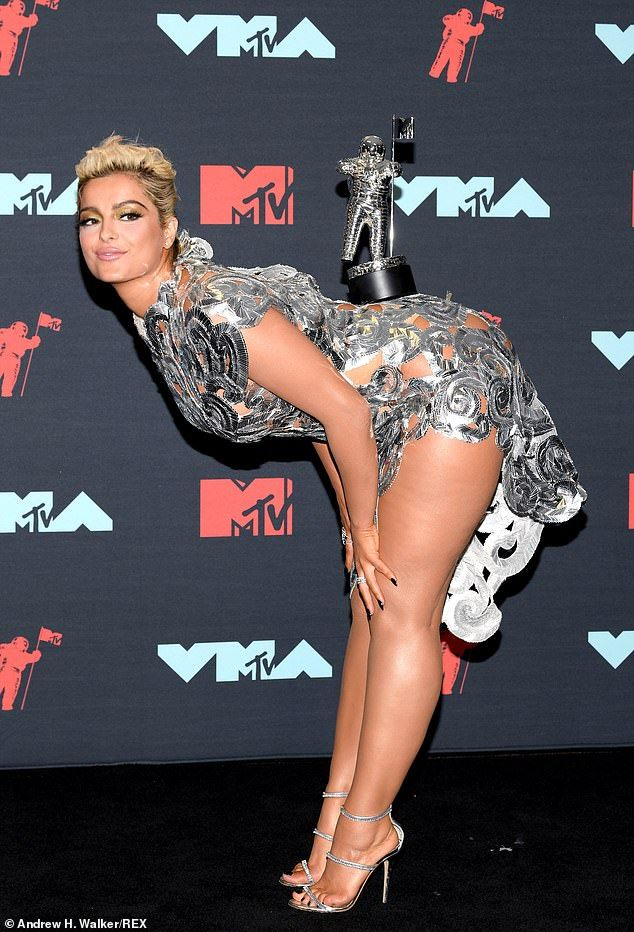Bebe Rexha Shimmers In Very Racy Dress At Mtv Vmas In New Jersey