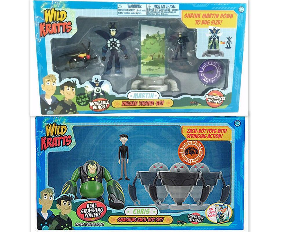 Pin lego 60032 city the lego summer wave in official images on - Pbs Wild Kratts Martin Chris Deluxe Figure Sets Zach Firefly Shrink Martin New In Toys