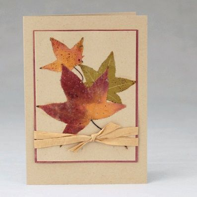 Using Dried Leaves To Decorate Greeting Cards Leaf Crafts Leaf Cards Dry Leaf Art