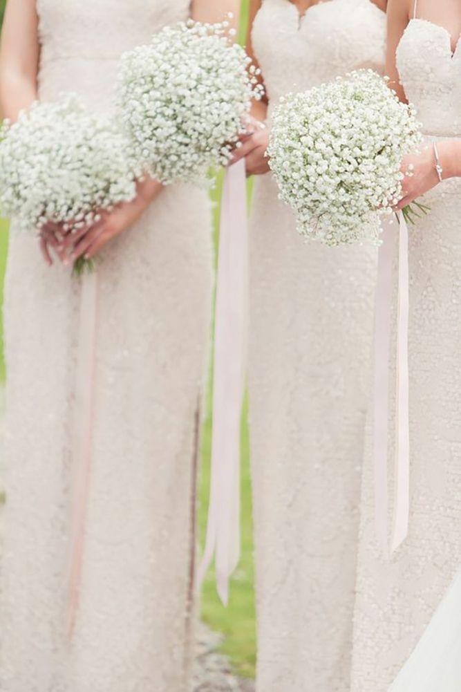 30 Incredible Bridesmaid Wedding Bouquets Wedding Forward Gypsophila Wedding Bridesmaid Flowers Wedding Bouquets