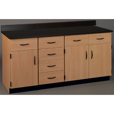 Stevens Id Systems Science Workstation Color Black Surface Type Laminate Finish Cherry Workstation Cabinet Design Countertop Options