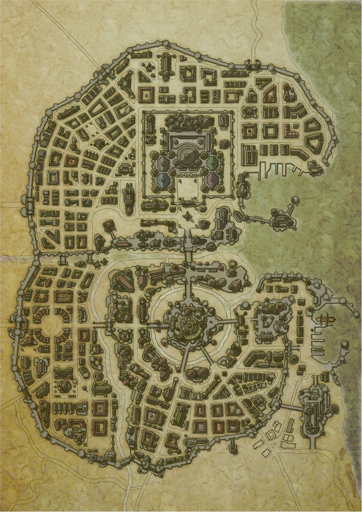 Fantasy Map Image By Wesley L Wei On Castles Fantasy City Map