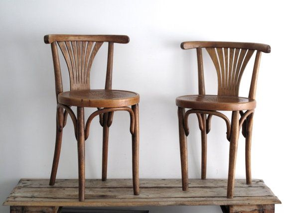 bentwood bistro chair. Vintage Bentwood Chair - Two Wooden Cafe Bistro Thonet Style T