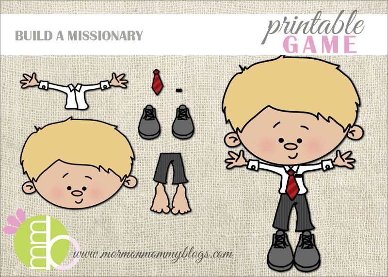 Mormon Mommy Printables: Build a Missionary Printable Game | Primary ...
