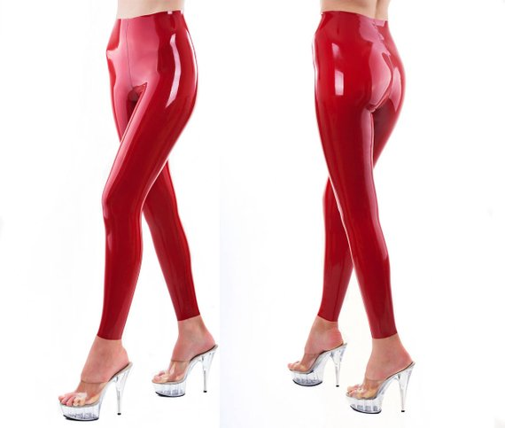 8c4669c22b2554 Real Latex Leggings - Red, Black, White, Pink, Blue etc - Any size ...