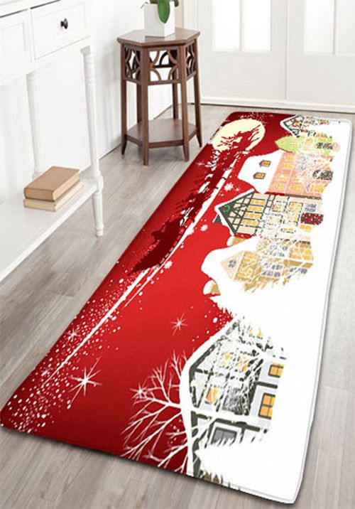 Christmas Graphic Skidproof Flannel Bath Mat Bath Mat Bath Rugs - Quality bath rugs for bathroom decorating ideas