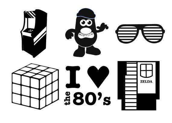 Download I LOVE THE 80's Digital Download - retro 80s SVG icons ...