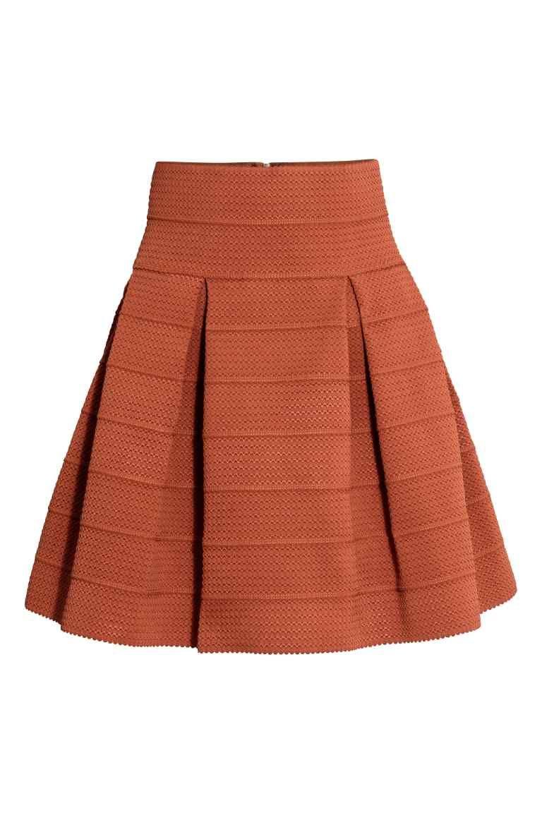 67a5e9c4af225d Jupe à motif structuré | H&M | top | Jupe à motifs, Jupe et Pantalon ...