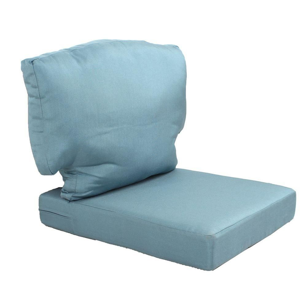 Hampton Bay Washed Blue Replacement Cushion For The Martha Stewart