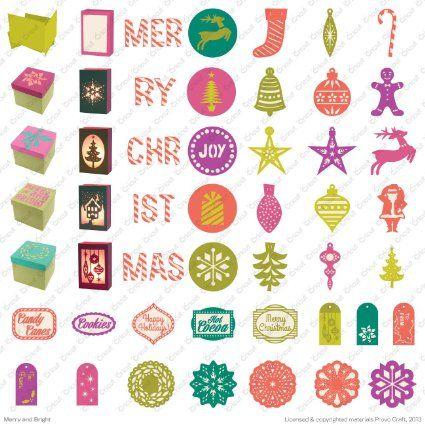Amazon.com - Cricut Merry and Bright cartridge - Cricut Christmas Cartridges