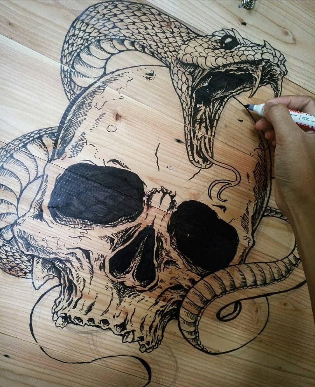 картинки змей карандашом в черепе нашему рецепту сможете
