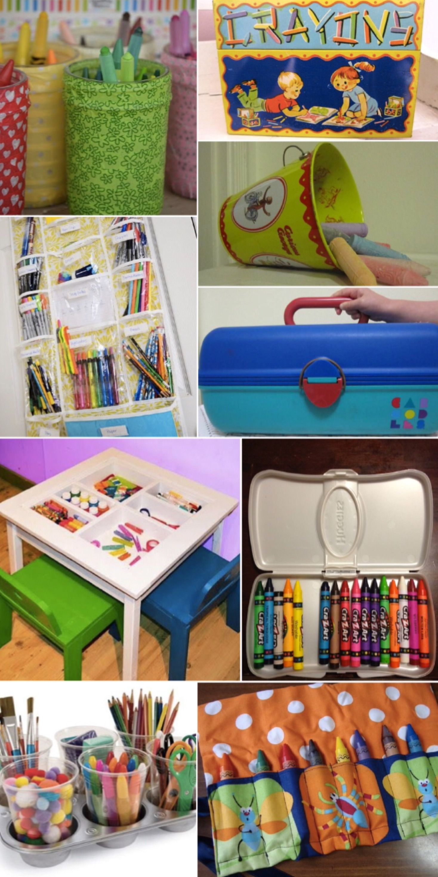 '9 Cool Storage Solutions for Arts & Crafts Clutter...!' (via Red Tricycle)