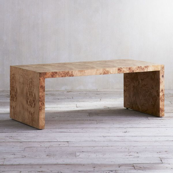 Oslo Burl Wood Veneer Collection Coffee Table Wisteria In