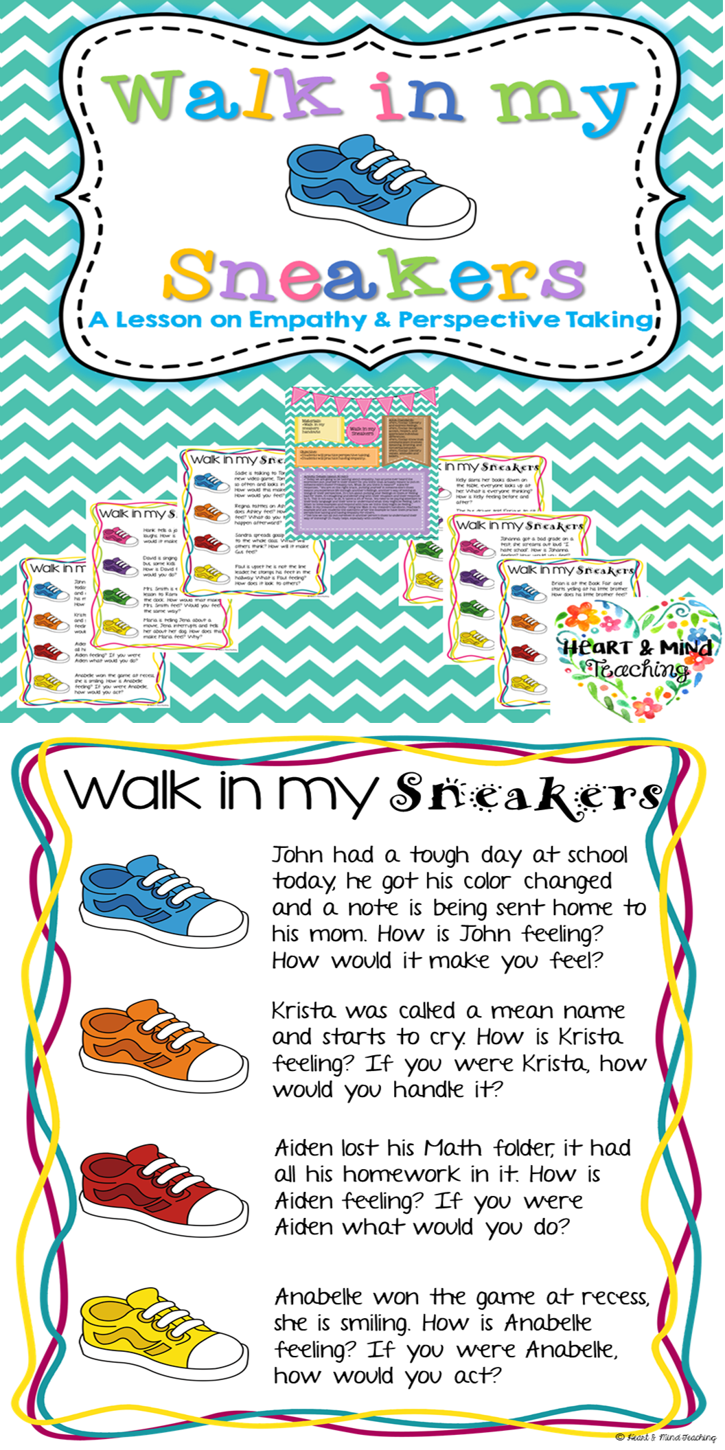 Walk In My Sneakers Empathy Activity