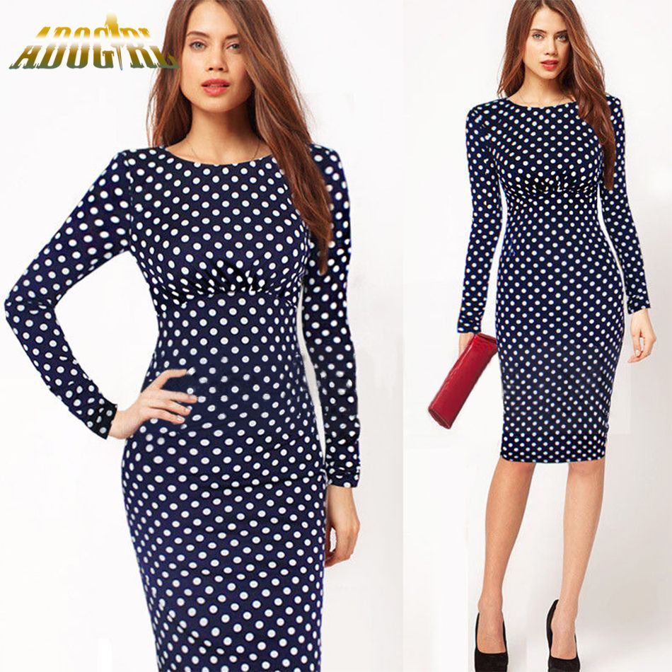 Women Office Formal Dresses New Arrivals Autumn European Roupas ...