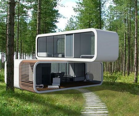 Take One Of These Modern Eco Friendly Portable Homes Anywhere With You Portable House Futuristic Home Eco House Design
