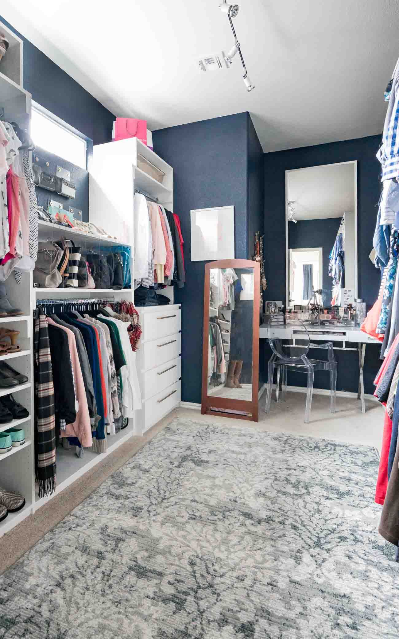 Diy master closet by polished habitat built in drawers