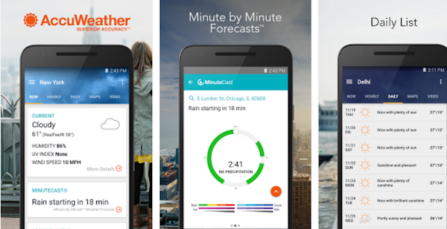 1. AccuWeather Weather data, Weather broadcast, Personal