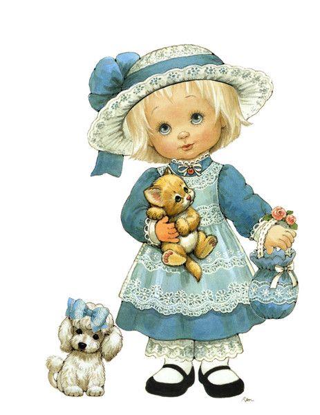 Пожеланиями, кукла-ребенок открытка