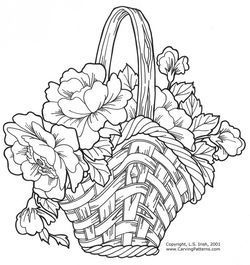 Wicker Baskets and Floral Arrangements Pattern Package