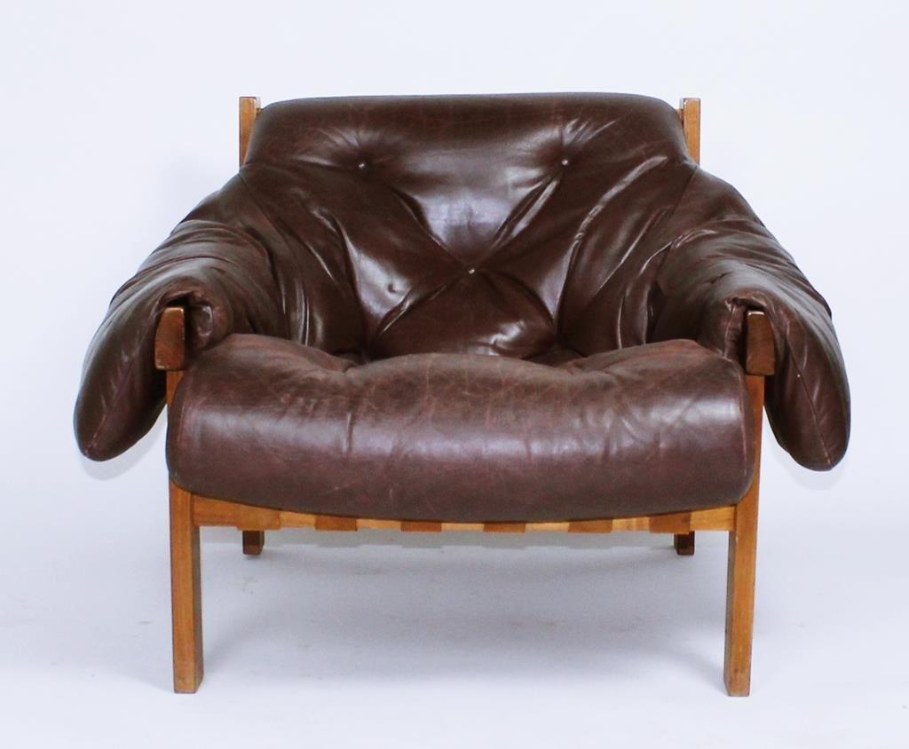 Vintage Mid Century Brazilian Modern Percival Lafer Style Lounge Chair 1970u0027