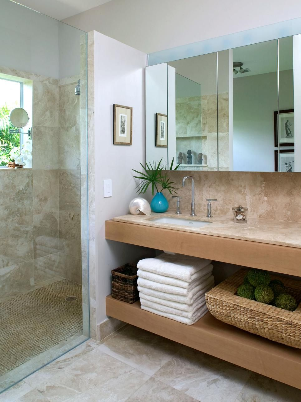 Coastal Bathroom Ideas Neutral Bathroom Shower Doors and