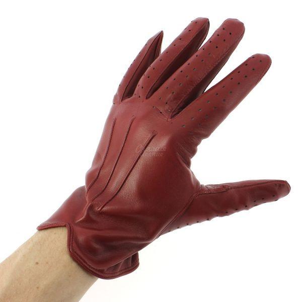 03e52699b8c Gant cuir rouge Luxe