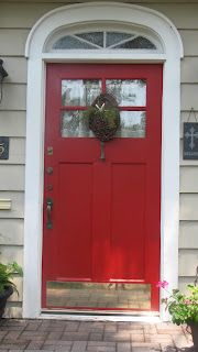 Benjamin Moore Heritage Red, Want To Paint The Front Door Red, Yes!!:}