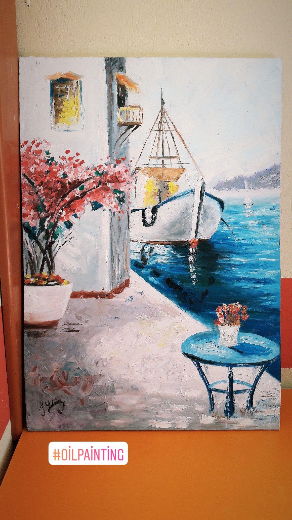 Manzara Art Oilpainting Manzararesimleri Yagliboya Sanatsal Sanat 50 70 Tuval Yagli Boya Calismasi Tuval Resimleri Tuval Sanati Yagliboya Sanat