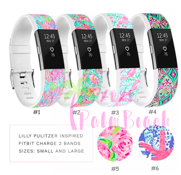 Get Fit with Lilly! Our Lilly Pulitzer Inspired fitbit bands
