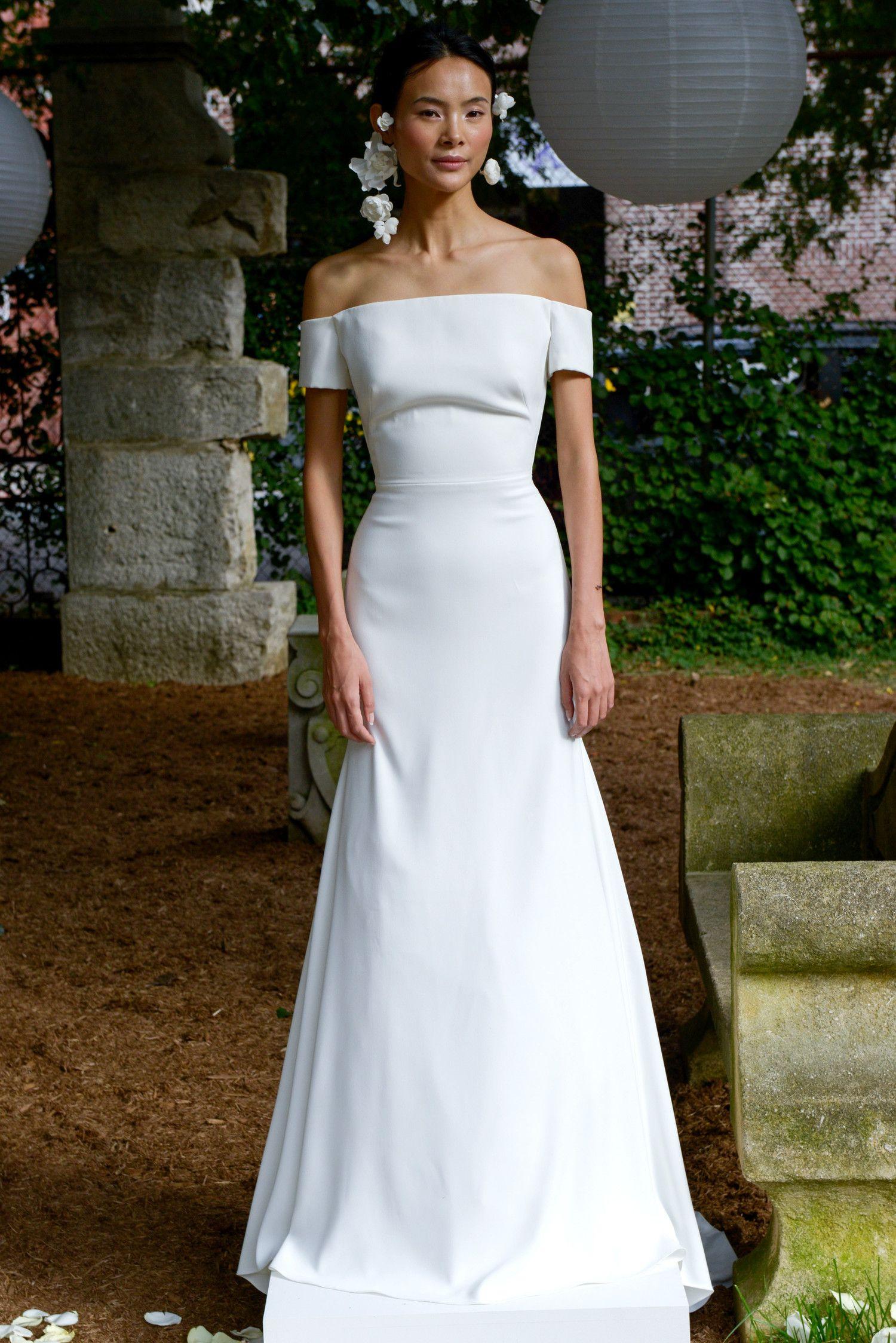 Lela Rose Off Shoulder Wedding Dress
