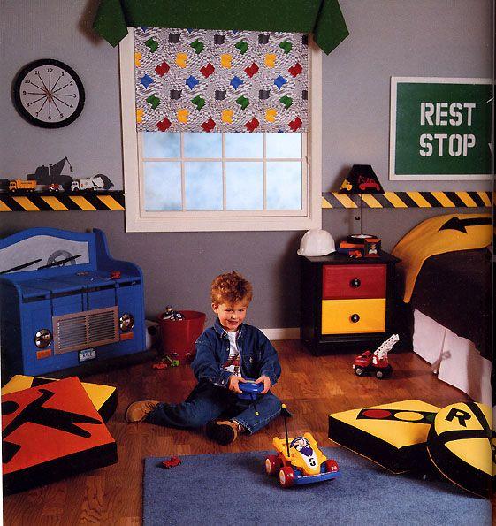 Home decor ideas boys kids fabric beatrix potter for Boys construction bedroom ideas