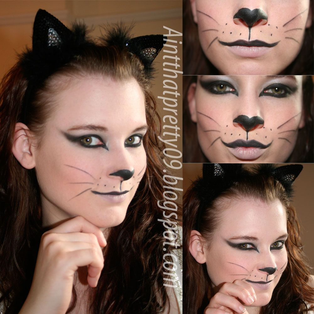 Pin By Melody Russell On Makeup Costume Face Painting Halloween Cat Face Makeup Kitty Face Paint