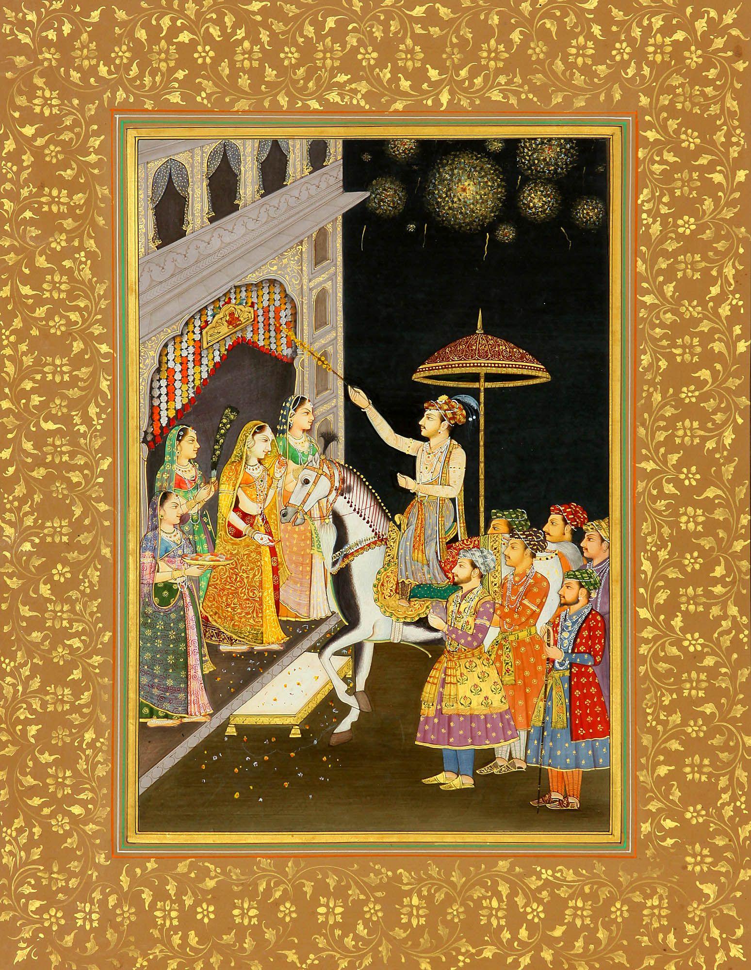 indian wedding hindu invitations%0A Mughal Wedding Procession