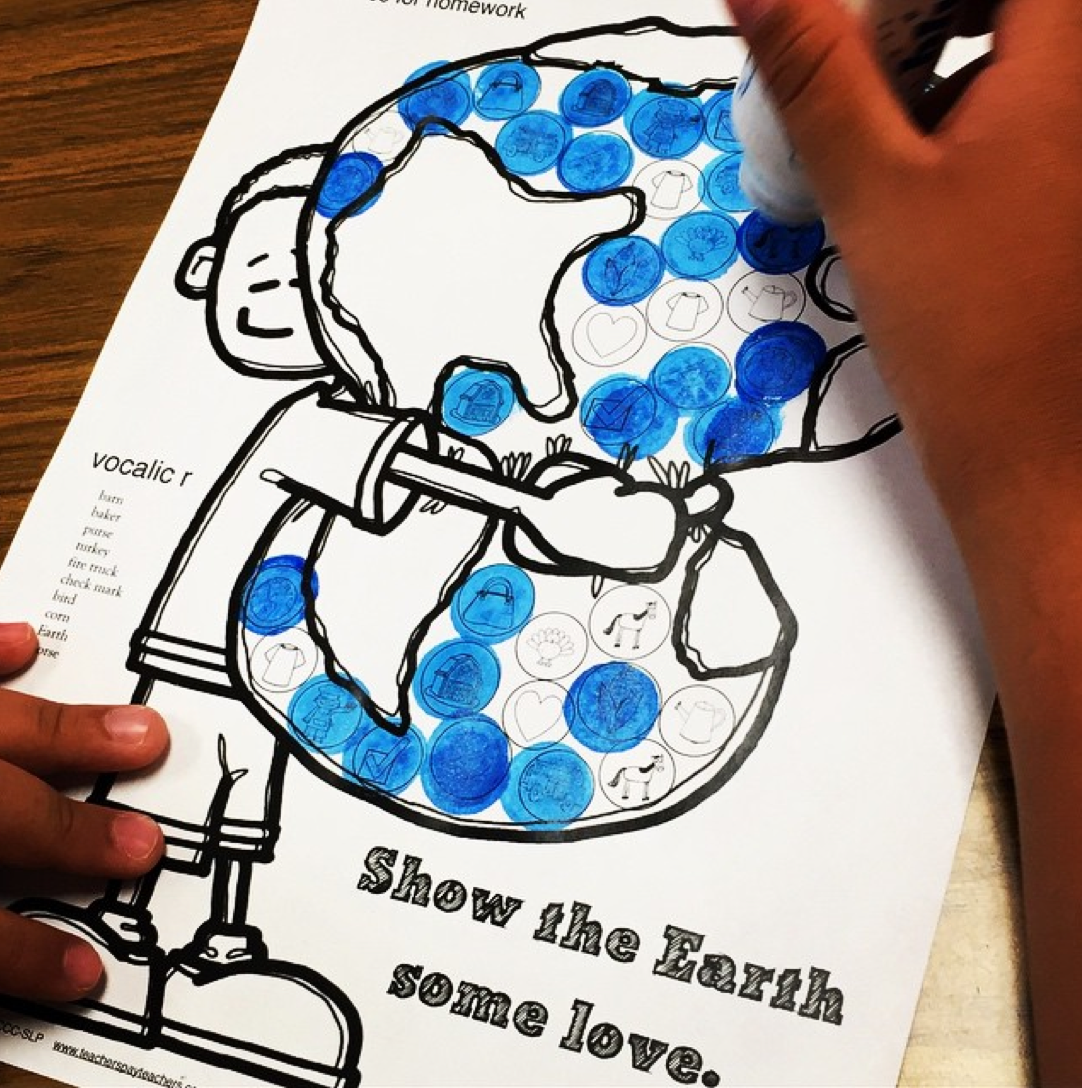 Articulation Dot Art Freebie For Earth Day R And R
