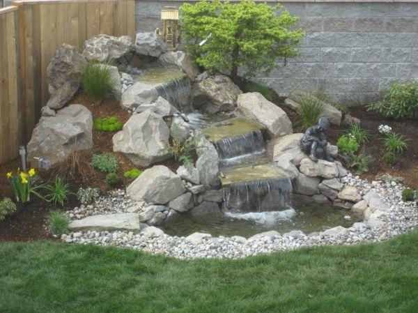Schon Wasserfall Als Kleine Insel Im Garten Gestalten
