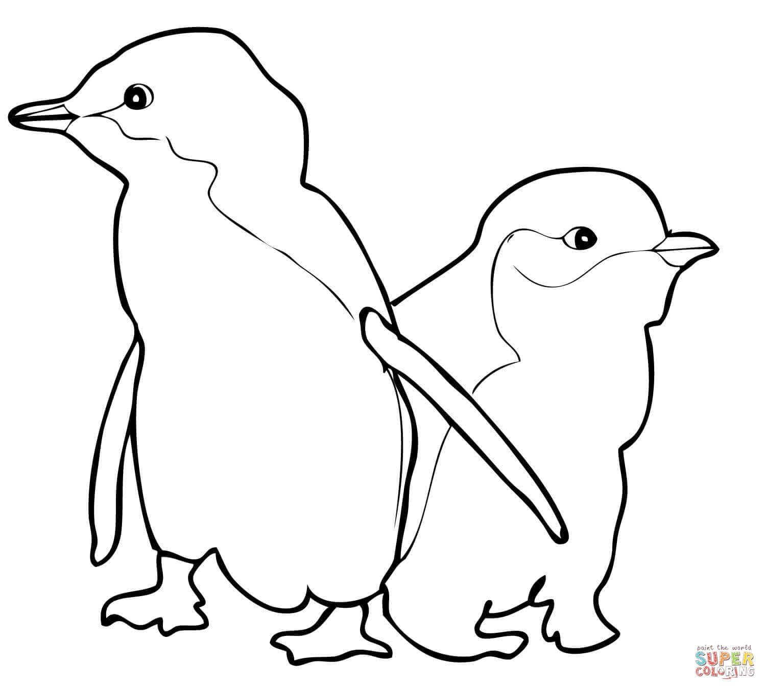 Printable Penguin Coloring Pages For Kids | 1352x1500