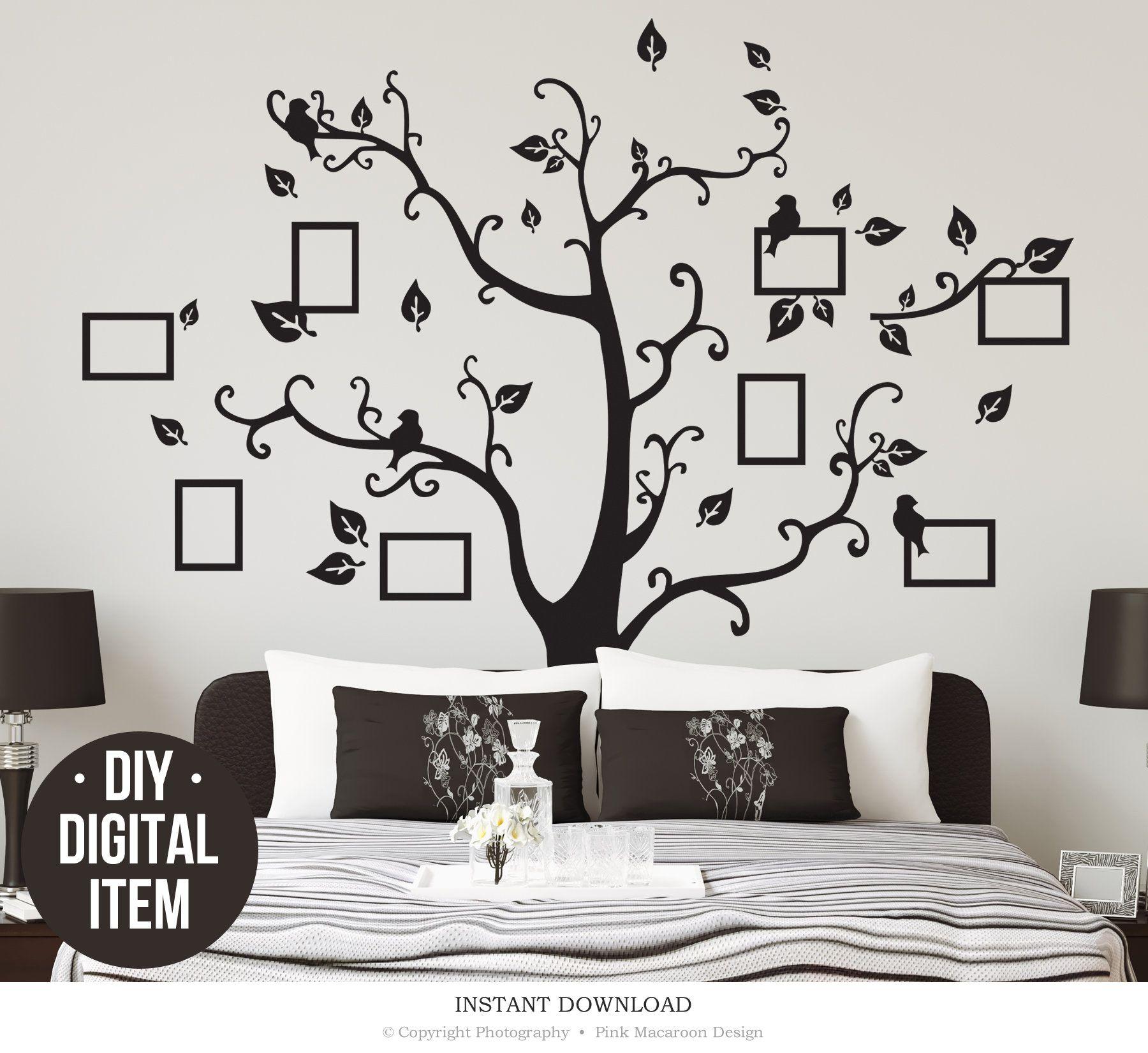 Family Tree Wall Decal Digital Diy Tree Wall Stiker Living Room