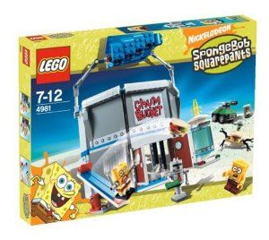 Lego Chum Bucket SpongeBob Squarepants by LEGO. $168.74. Includes SpongeBob, Robot SpongeBob, Plankton, plus a Burger Walker and robot customer. With the help of his computer, he'll use his spinning brainwasher, the Krabby Patty analyzer, and even a robotic SpongeBob to get it.. Foil Plankton's wacky schemes.  Across the street from the Krusty Krab is the Chum Bucket.. A fun new addition to the SpongeBob SquarePants sets.   Contains 337 Pieces. The restaurant and secr...