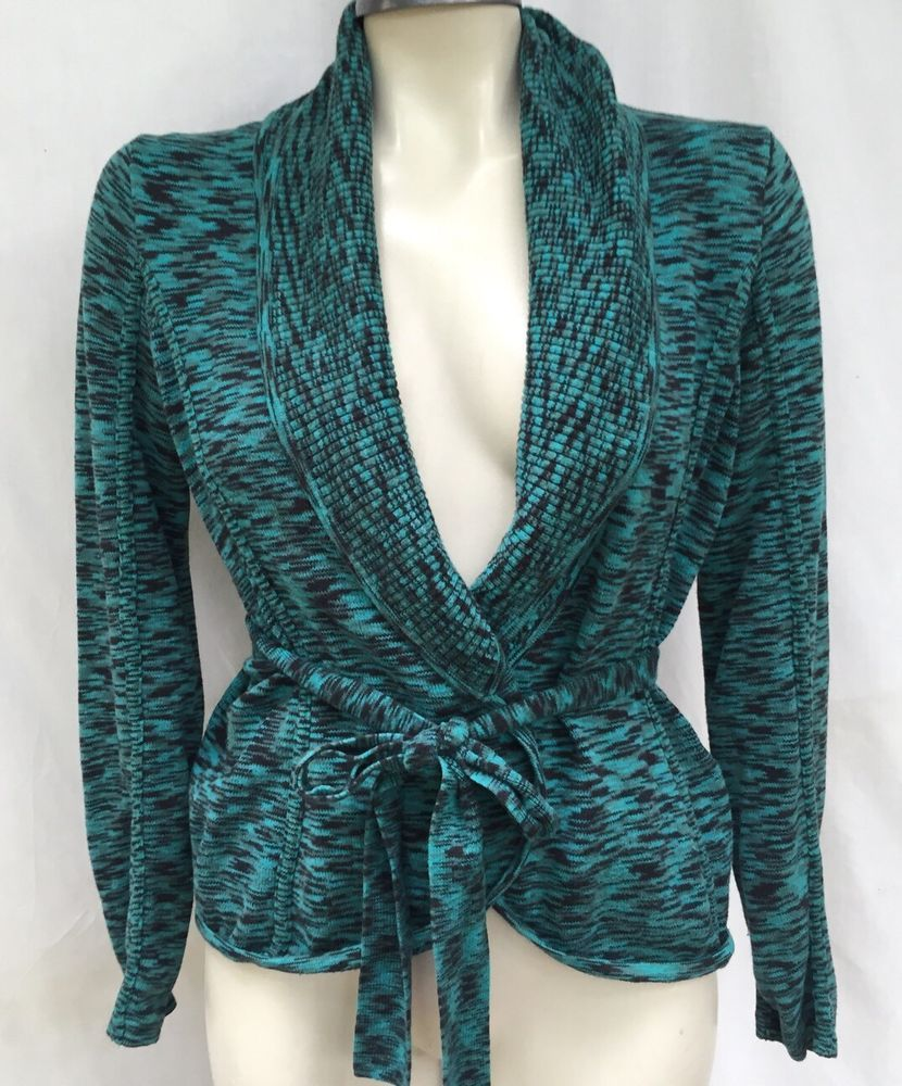 I.N.C INTERNATIONAL CONCEPTS MULTI COLOR BELTED CARDIGAN SWEATER ...