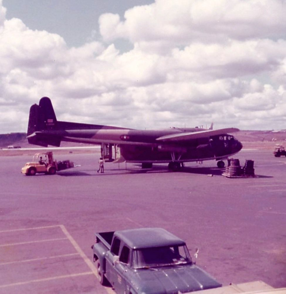 VNAF Fairchild C-119G Flying Boxcar at Pleiku Air Base. | Vietnam war,  Vietnam, Military photos