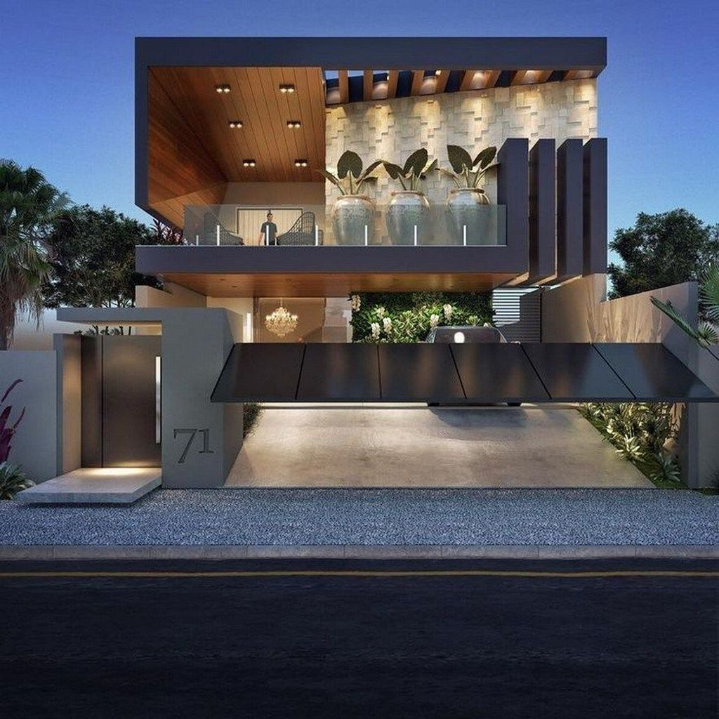35 Inspiring Modern House Architecture Design Ideas Facade House House Front Design House Architecture Design