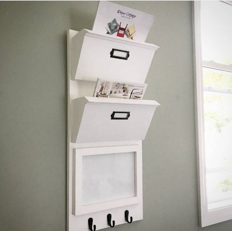 Entryway Mail Organizer With Whiteboard Or Cork Board Holder Office Decor Hanging Wall Coat Rack Corkboard