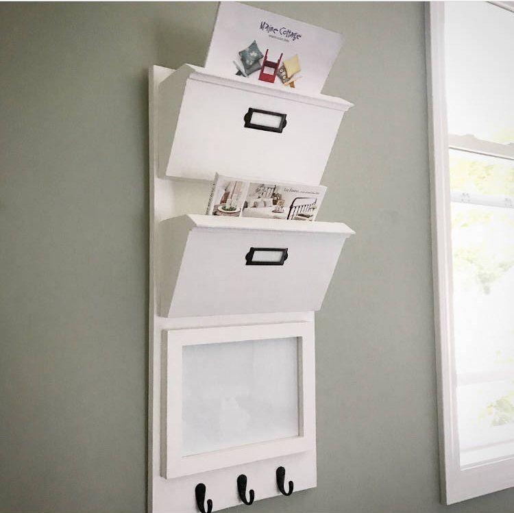 Mail Organizer With Whiteboard Or Corkboard Entryway Mail Organizer Mail Organizer Wall Hanging Mail Organizer