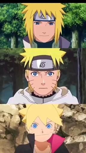 Photo of Minato, Naruto e Boruto