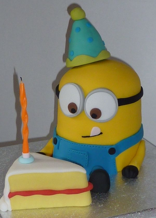 Minion Cake. This would be the cutest birthday cake