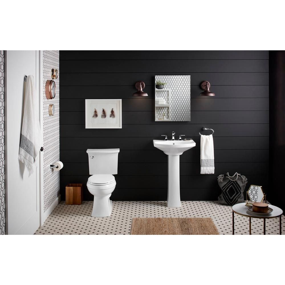 Kohler Elmbrook 24 In Pedestal Sink In White With 8 In