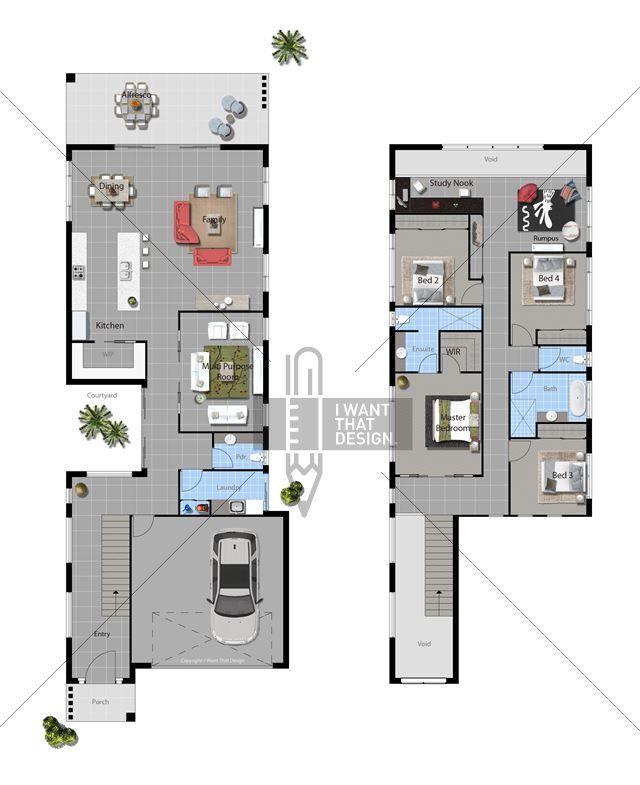 Buy House Plan Design Encino Contemporary 2014 House Plans Narrow House Plans Contemporary House Exterior